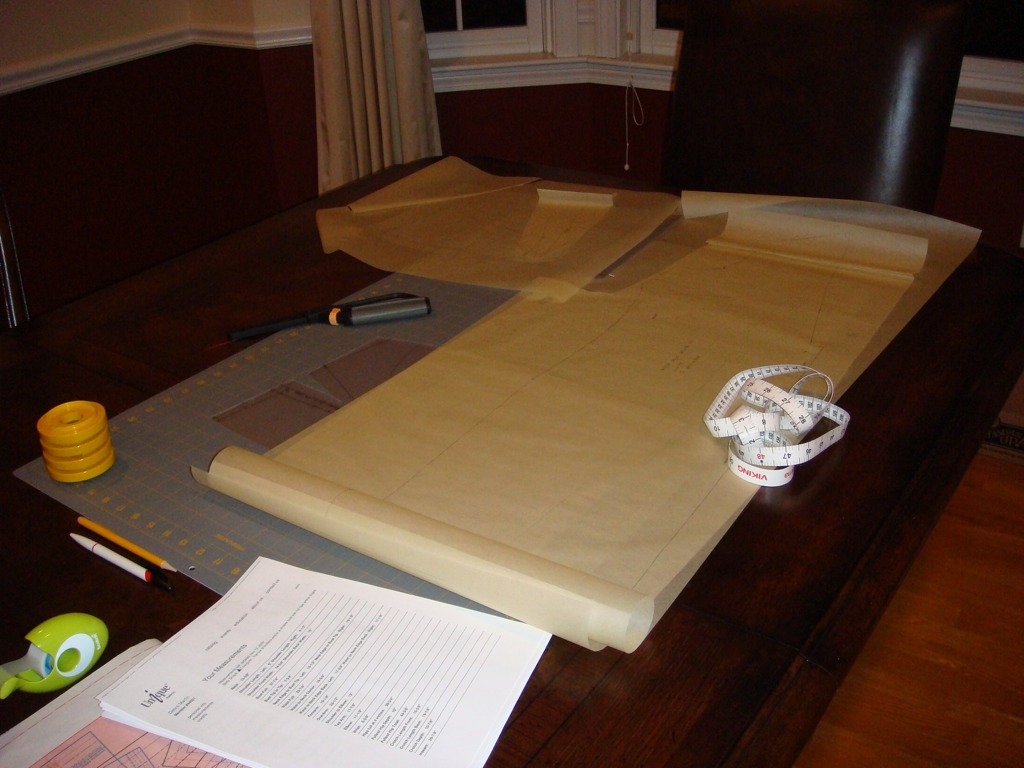drafting table & supplies